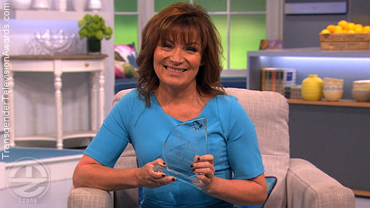 Lorraine Kelly With Her Transgender Television Award for 2015
